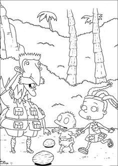 Dibujos para Colorear. Dibujos para Pintar. Dibujos para imprimir y colorear online. Rugrats 70