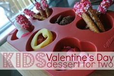 Kids Valentine Day dessert buffet for two. Perfect for a Valentine's Playdate or special lunch.