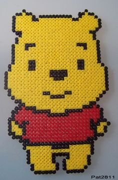 Winnie the Pooh hama beads by Les loisirs de Pat