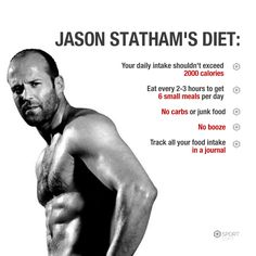Want to be like Jason Statham? Follow these tips! #JasonStatham #diet #nutrition