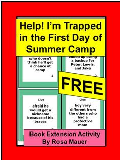Summer: This FREE activity is for Help! I'm Trapped in the First Day of Summer Camp by Todd Strasser. Receive a matching task with character clues and character cards. A response form for students and an answer key for the teacher are provided.