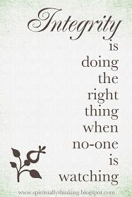 ....and Spiritually Speaking: Integrity