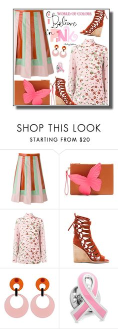"""I believe in pink"" by noconfessions ❤ liked on Polyvore featuring Valentino, Sophia Webster, Jeffrey Campbell, Toolally and Cufflinks, Inc."