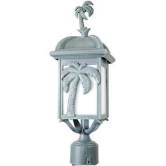 Melissa Americana Palm Tree Series 1 Light Lantern Head Finish: Old Copper Black Lantern, Lantern Set, Led Lantern, Outdoor Wall Lantern, Palm Tree Lights, Palm Trees, Lamp Post Lights, Classic Lanterns, Exterior Light Fixtures