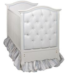 French Panel Upholstered Crib in Antico White  #french #crib #baby #afk #georgiababy #atlanta #furniture