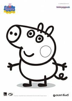 11 fantastiche immagini su disegni da colorare peppa pig for Maschere di peppa pig da colorare