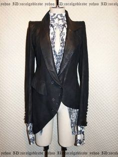 IF SIX WAS NINE Paradisso Leather Jacket (Size 1, unisex) Current highest bid: 169,999 yen! IF SIX WAS NINE is an all hand-made brand based in Tokyo. Bid on it through Rinkya!