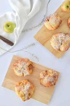 Schnelle Apfel-Taler – Ihrsinn Nutella, Kids Meals, French Toast, Deserts, Curry, Food And Drink, Gluten, Healthy Recipes, Healthy Food