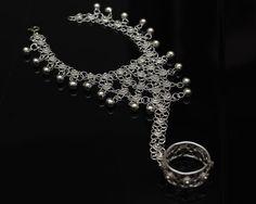 Sterling Silver Bridal Slave Bracelet  Silver by SilverLiningStr