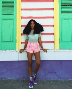 Solange is probably the only person who can rock bold colours and look absolutely FAB.