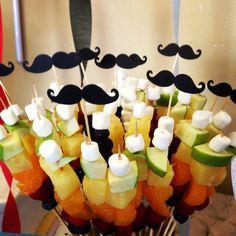 #madplatter kitchen fruit skewers mustache birthday party