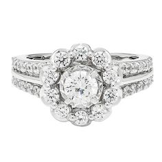 1 1/2 ct. tw. Diamond Halo Engagement Ring in 14K White Gold - 2190781
