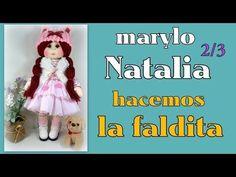 muñeca marylo Natalia, hacemos la faldita , video- 324 - YouTube Fabric Doll Pattern, Fabric Dolls, Doll Videos, Doll Tutorial, Soft Dolls, Couture, Craft Tutorials, Hand Embroidery, Baby Dolls