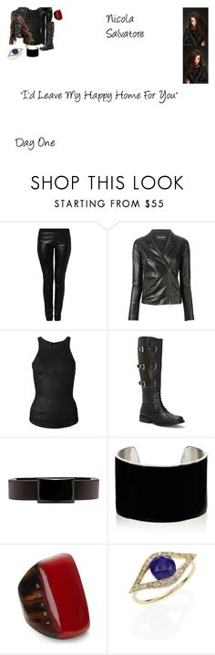 """""""Nicola Salvatore Worlds Colliding (The Vampire Diaries) 6.20 """"I'd Leave My Happy Home For You"""""""" by mysticfalls1997 ❤ liked on Polyvore featuring Emporio Armani, ISABEL BENENATO, Vince Camuto, IaM by Ileana Makri, Marni and Jacquie Aiche"""