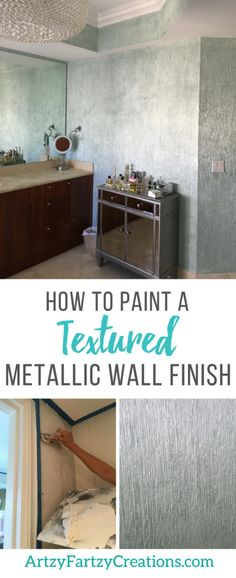 How to Paint a Textured Metallic Wall Finish by Cheryl Phan