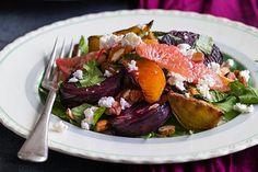 Beetroot, almond and feta salad – Recipes – Bite