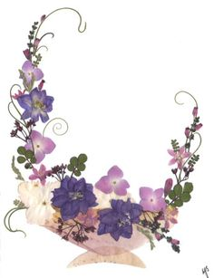 Pressed Flower Designs | Real Pressed Flowers - Greeting Cards Gallery