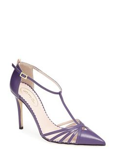 SJP Shoes: Carrie T-strap Sandal in Purple. Sweet.