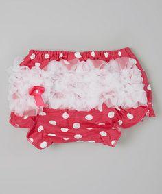 Look at this #zulilyfind! Pink & White Polka Dot Diaper Cover - Infant & Toddler #zulilyfinds