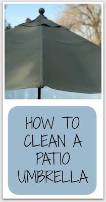 How To Clean A Patio Umbrella With