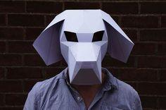 Les Geometric Paper Masks, de superbes masques d'animaux géométriques en papier…