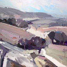 Richard Claremont 'Crossing The Plains: Part II' 85x85, Oil on canvas