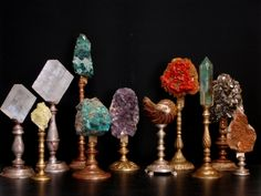 Home Interior Salas Furniture and decoration - Minerals, semi precious stones on stands - Empel Collections Geode Decor, Plywood Furniture, Home Decor Furniture, Bohemian Furniture, Simple Furniture, Modern Furniture, Displaying Crystals, Rock Collection, Crystal Collection Display