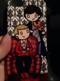 Sherlock phone case from ShockingBlankets. Awesome. Want
