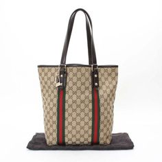 GUCCI GG Canvas Totes Beige Canvas 162899