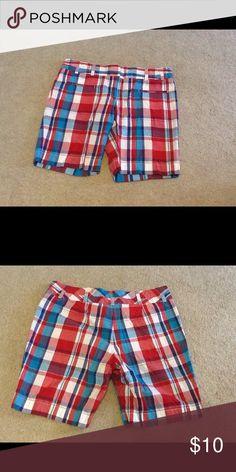 "Like new women's Tommy Hilfiger shorts. Like new women's plaid shorts. Size 10. 9"" inseam. Tommy Hilfiger Shorts"