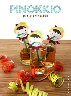 FREE Pinocchio party printables, gratis knipvel pinokkio, kinderfeestje, www. Festa Party, Childrens Party, Party Printables, Diy For Kids, Party Planning, Party Time, Party Favors, Crafts For Kids, Paper Crafts