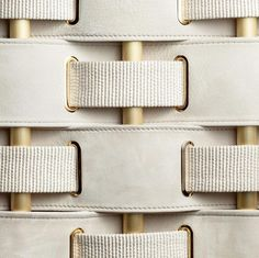 details: brass, white leather and woven #details