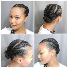 Flat twist hair do