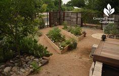 no lawn courtyard food, outdoor living Central Texas Gardener