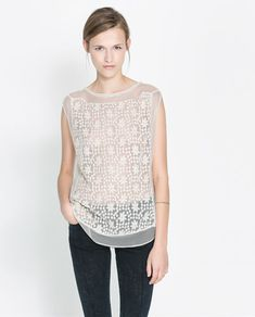 Image 1 of LACE TOP from Zara