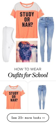 """School"" by wweajfan4life on Polyvore featuring G-Star and Vans"