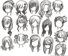 How to draw anime girl hairstyles. How to draw anime girl hairstyles step by step. How to draw anime girl hairstyles. How to draw cute anime girl hairstyles. How to draw anime girl hairstyles ponytail. Drawing Tutorials, Drawing Techniques, Art Tutorials, Painting Tutorials, Manga Drawing, Drawing Sketches, Drawing Tips, Sketching, Braid Drawing