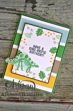 nice people STAMP!: No Bones About It Dinosaur Birthday Card: #tgifc07