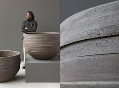 Contemporary Pots by Atelier Vierkant  www.ateliervierkant.be