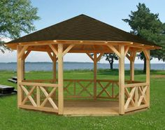 free octagon gazebo roof plans - Google Search