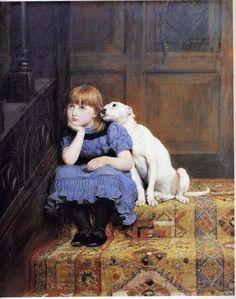 Briton Riviere - Sympathy (circa 1878 )