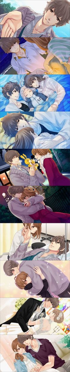 Brothers Conflict - Masaomi and Ema. Wataru in the middle!! :D