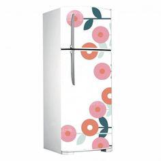 Adesivo porta de geladeira - Flor circular