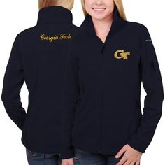 GA Tech Yellow Jackets Columbia Women's Give & Go Full Zip Jacket – Navy Blue