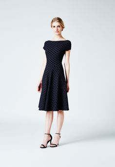 Circle Dress in Black Cameo Cloth - Leota  - 1