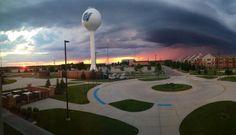 Storm clouds on campus. Photo by Logan Wyatt. #gvsu