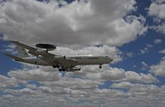 An E-3 Airborne Warning and Control System aircraft from Tinker AFB, Okla., prepares to land at Davis-Monthan AFB, Ariz., May 16, 2015. (Air Force photo by SrA. Betty R. Chevalier)