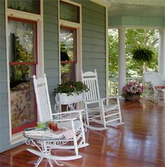 Pretty front porches...