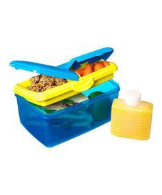 Look what I found on #zulily! Blue 93-Oz. KLIP IT Quaddie Lunch Box & Water Bottle by Sistema #zulilyfinds