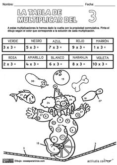 Tabla del 3 Math 4 Kids, Kids Math Worksheets, Puzzles For Kids, Preschool Activities, Multiplication Facts Practice, Math Sheets, Math Intervention, Math Tutor, Math Numbers